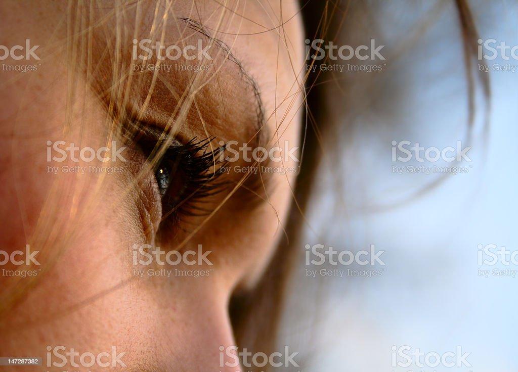Eyes and eyelashes. royalty-free stock photo