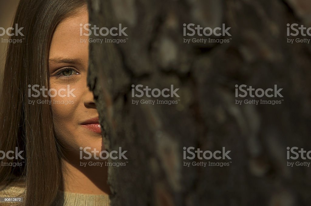 Eyes and tree royalty-free stock photo