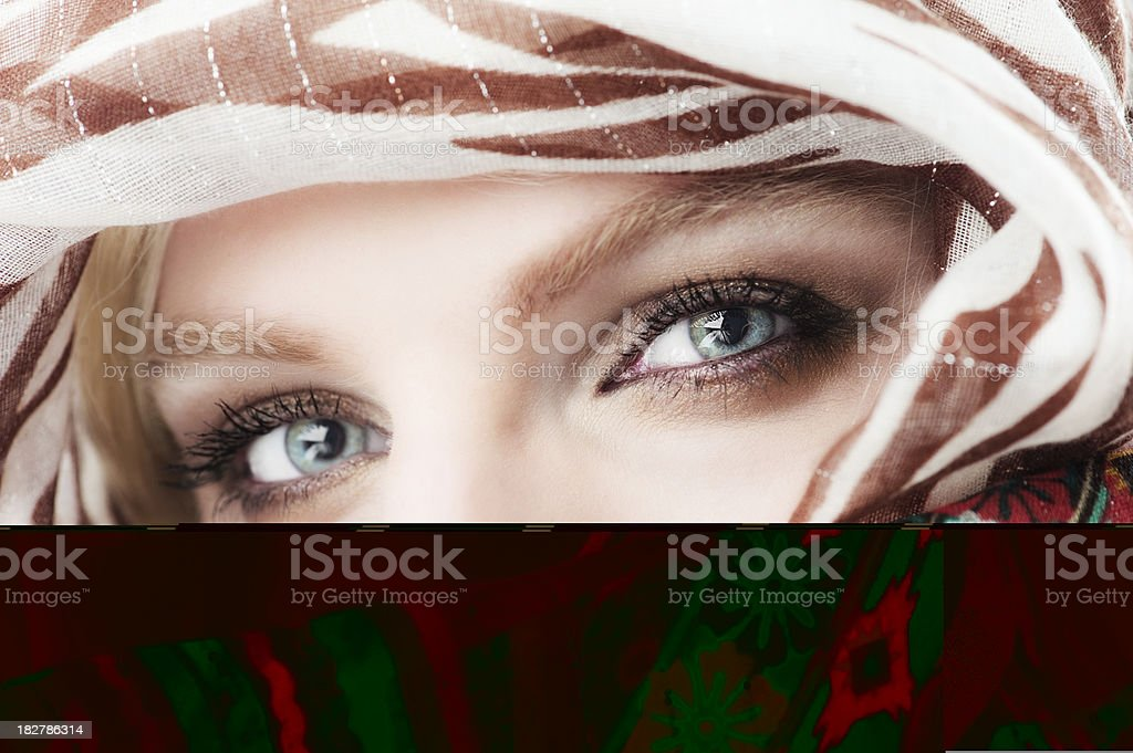 Eyes and vail royalty-free stock photo