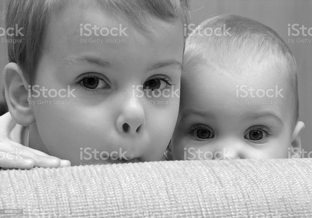 eyes. child with baby stock photo