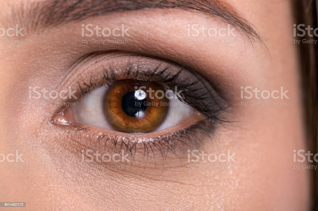 Eyes - close up stock photo