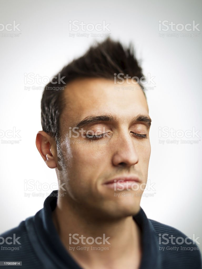 Eyes closed royalty-free stock photo