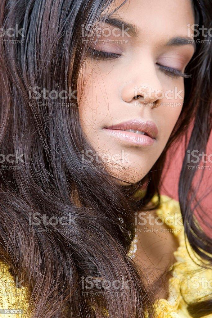 eyes closed royalty-free stock photo