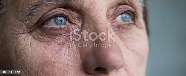 istock Eyes of a senior woman 1079961158