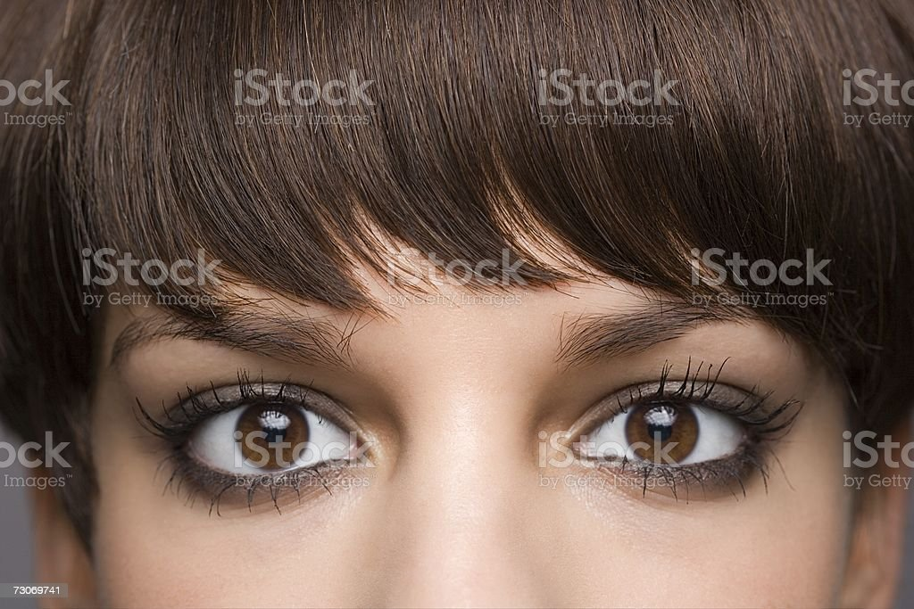 Eyes of a young woman stock photo