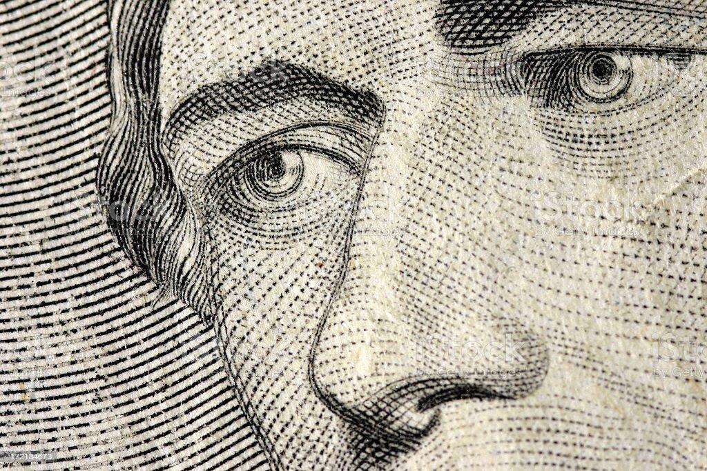 Eyes of Hamilton - $10 Bill royalty-free stock photo