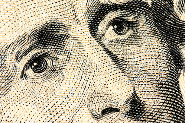 eyes of jackson - $20 bill - watermark stock photos and pictures