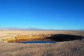 Ojos de Salar in the desert of Atacama