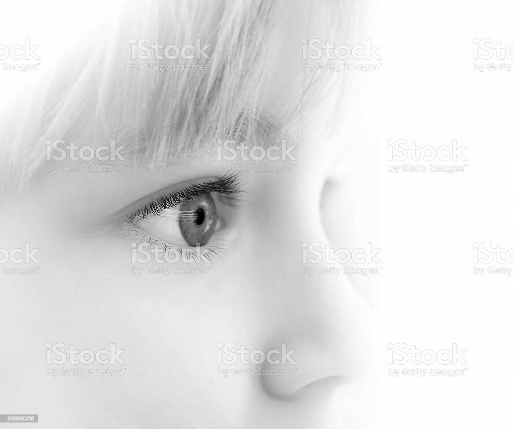 Eyes of the child stock photo