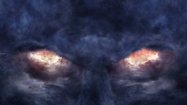 eyes of the devil - diabolic stock pictures, royalty-free photos & images