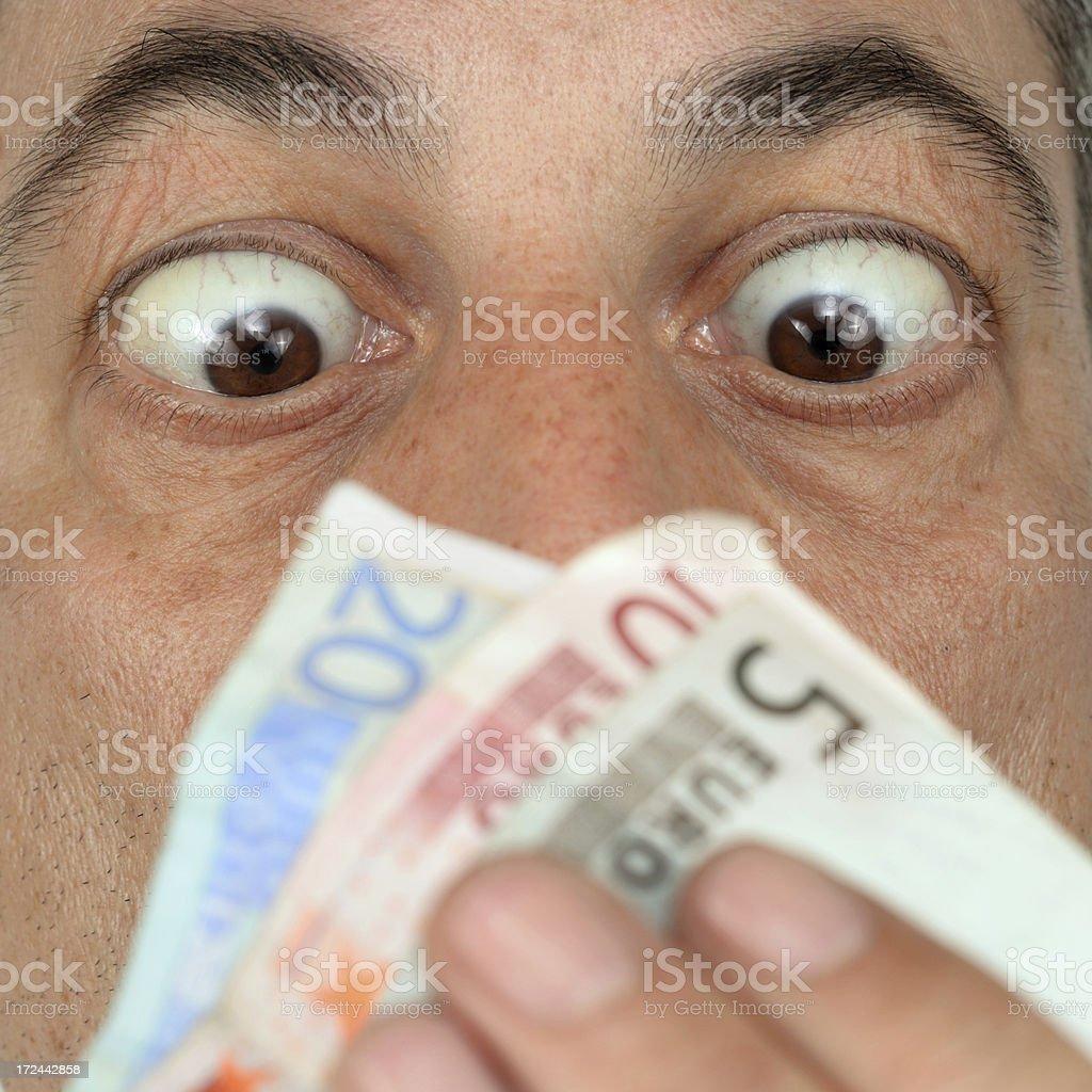 Eyes on Money series royalty-free stock photo