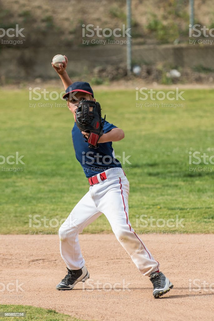 Eyes on target and ready to throw - Royalty-free Apontar Foto de stock