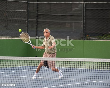 istock Eyes on the high volley. 519576868