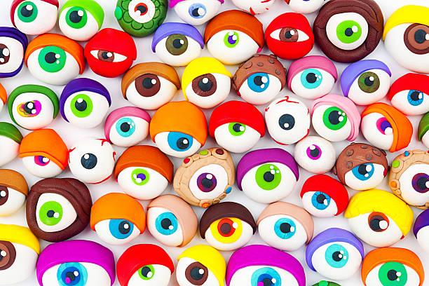 eyes - 諷刺畫 個照片及圖片檔