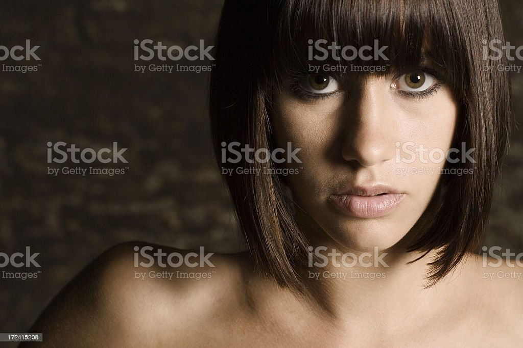 Eyes wide open royalty-free stock photo