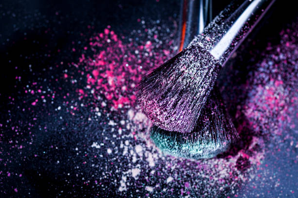 Eyeshadow and Make-Up Brush stock photo