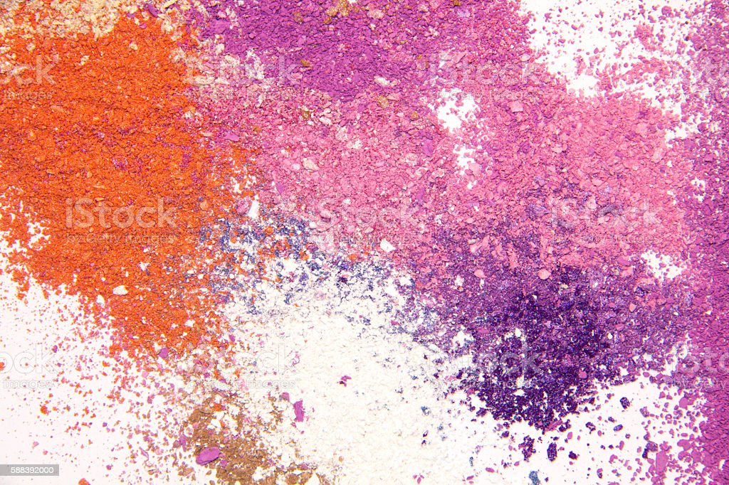 Eyeshadow Cosmetic Powder Scattered Copy Space. stock photo