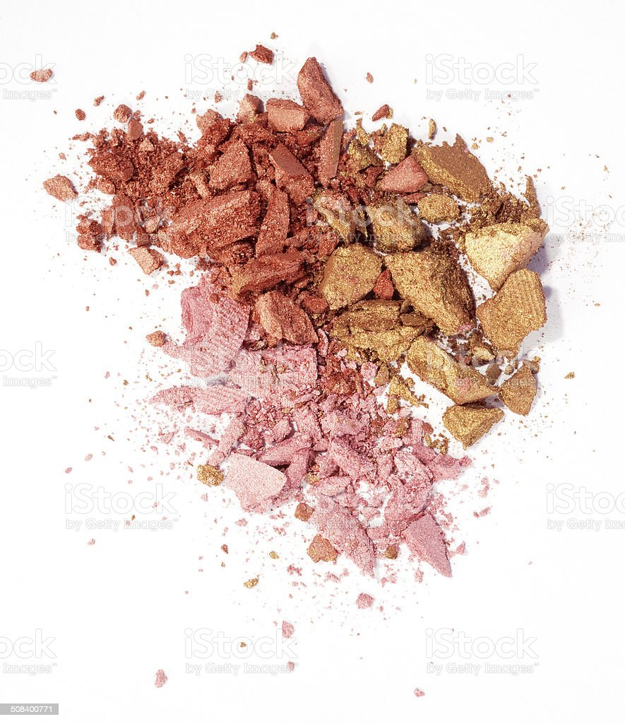 eyeshadow isolated stock photo