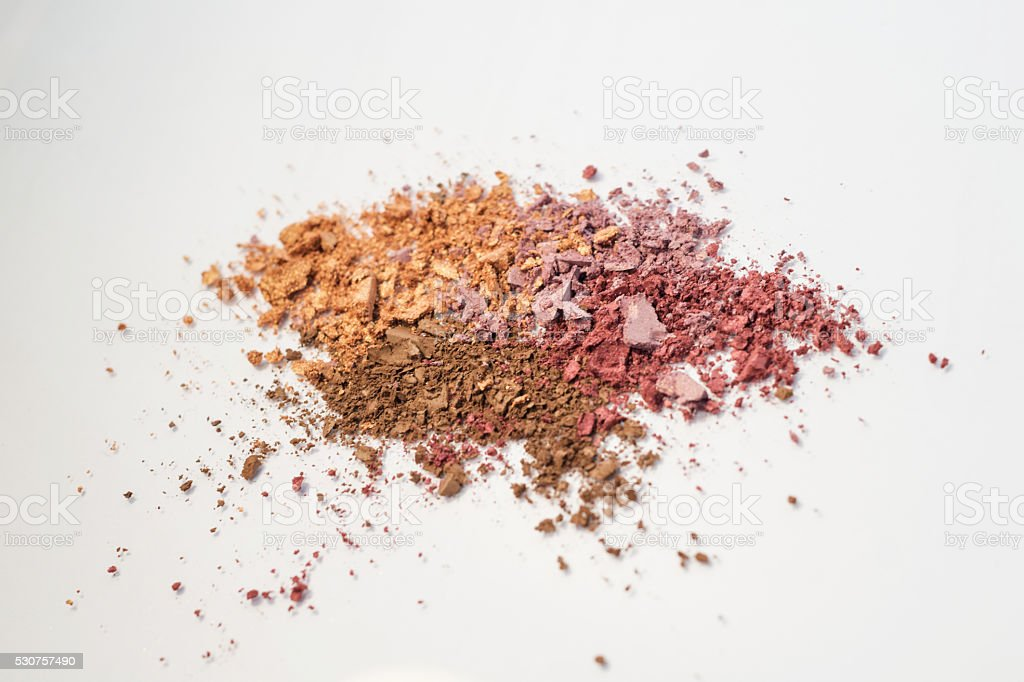 eyeshadow makeup powder pink, rose, brown, neutral royalty-free stock photo