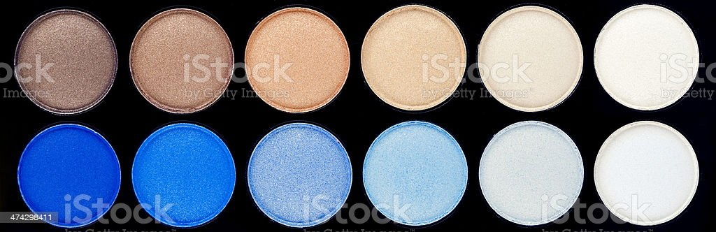 Eyeshadow Palette - Blues and Browns royalty-free stock photo