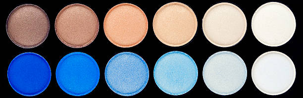 Eyeshadow Palette - Blues and Browns stock photo