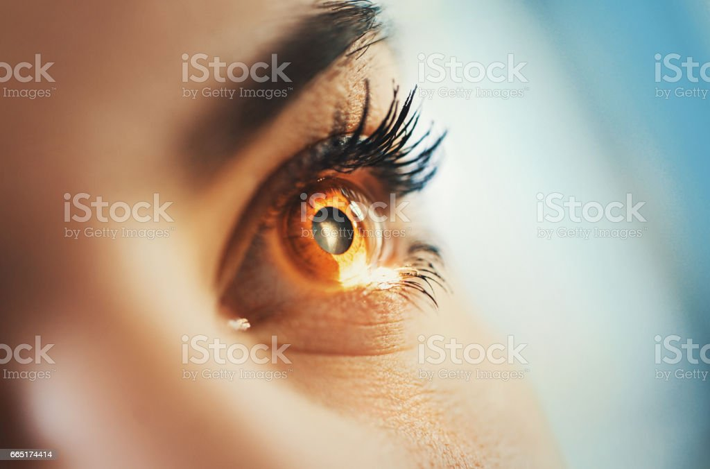 Eyesight exam. stock photo