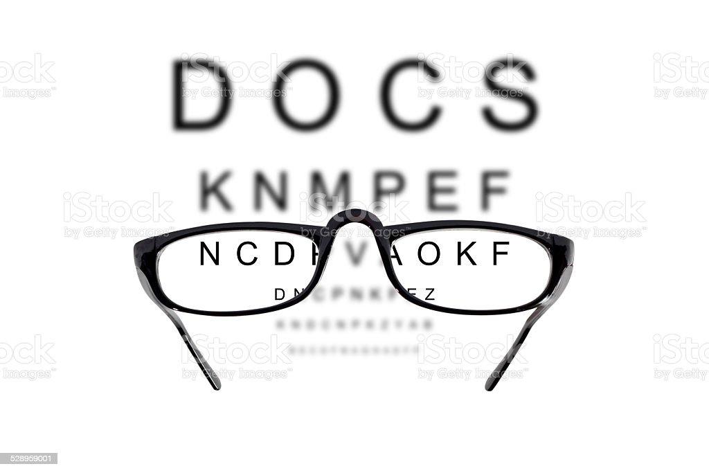 Eyesight test stock photo