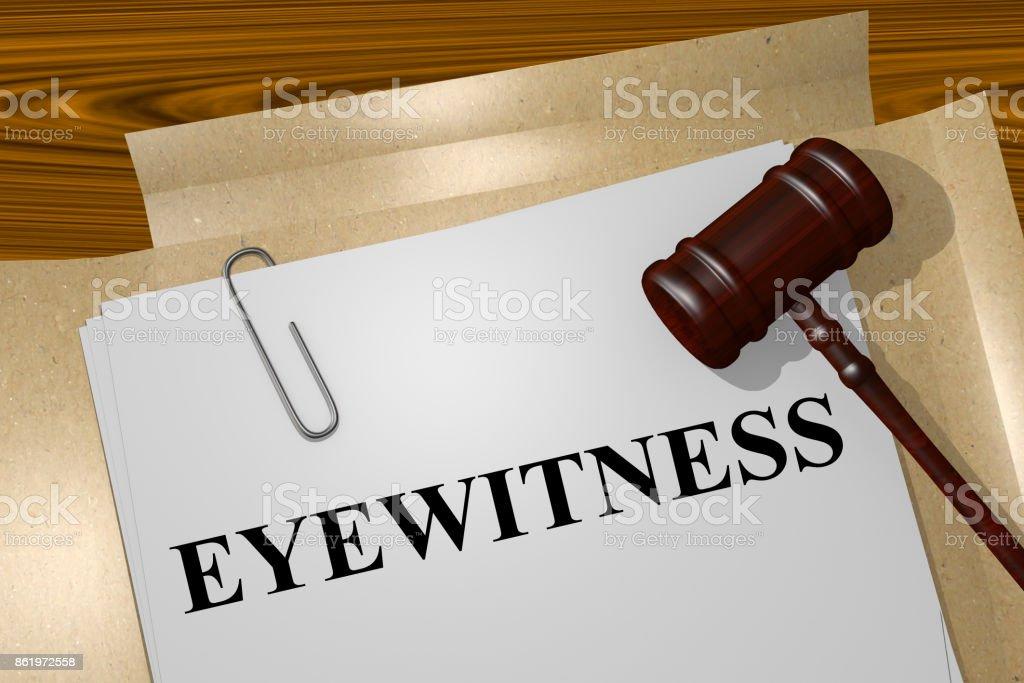Eyewitness concept stock photo