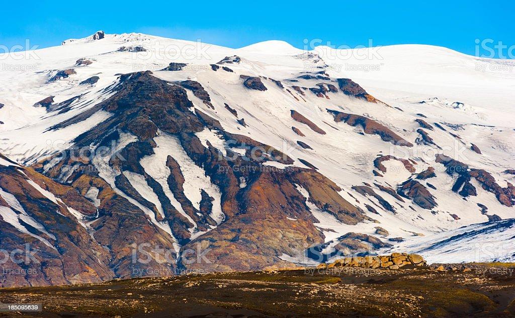 eyjafjallajökull, iceland stock photo