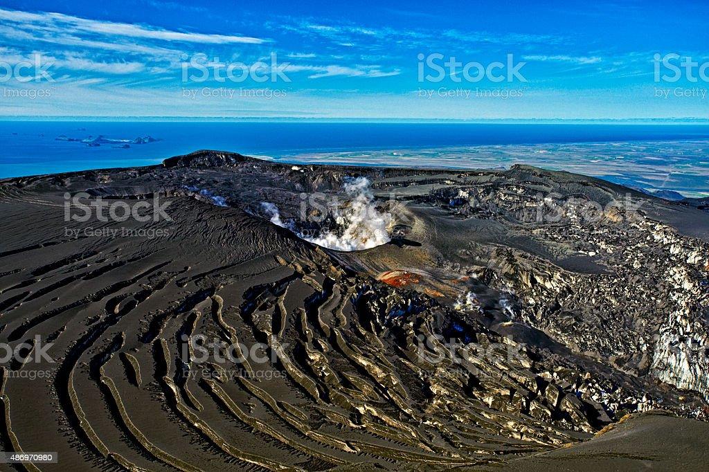 Eyjafjallajokull crater, Iceland stock photo