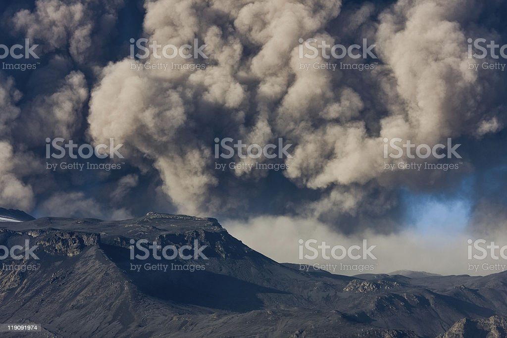 Eyjafjallajokull eruption royalty-free stock photo