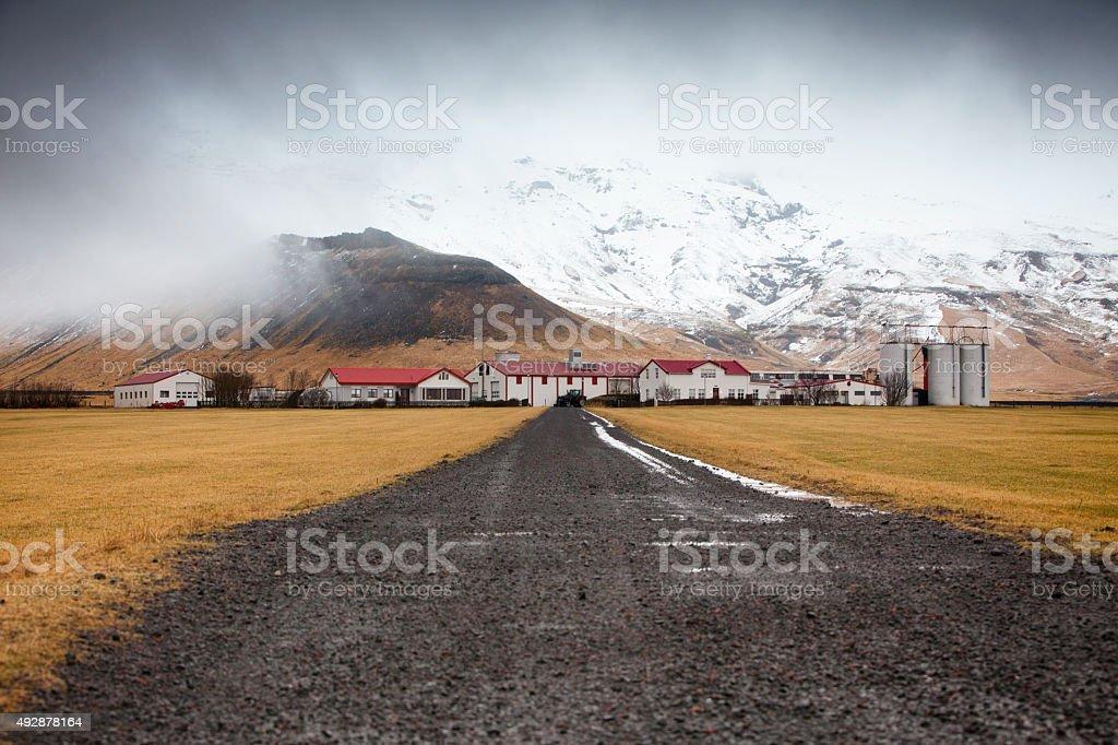 Eyjafjallajokull Glacier in Iceland stock photo