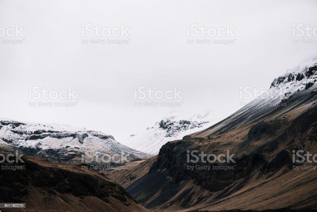 Eyjafjallajokull glacier volcano stock photo