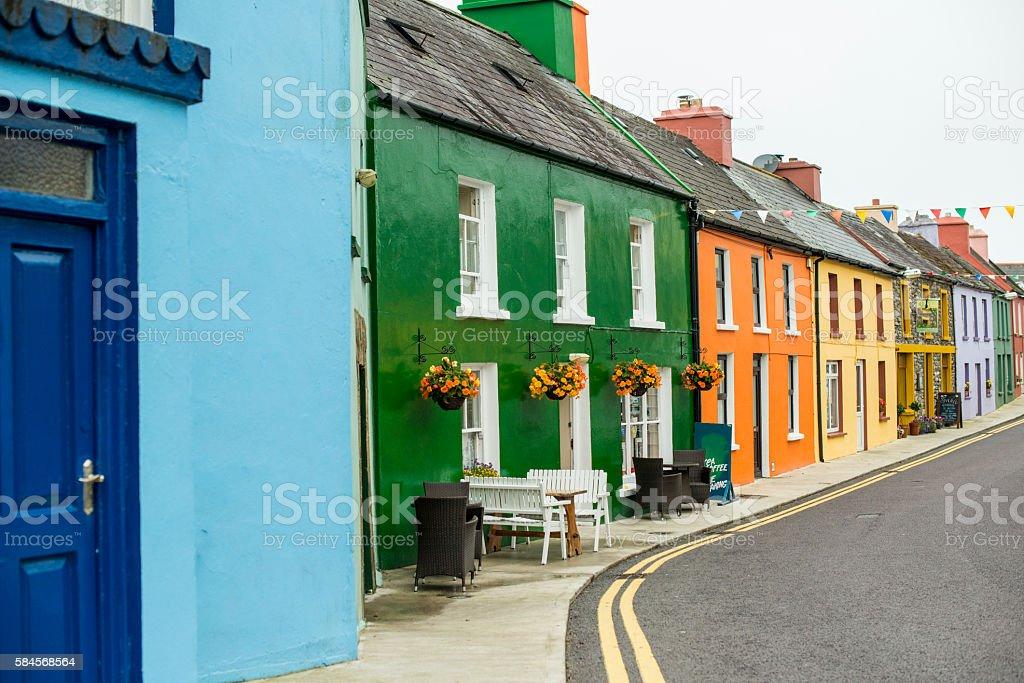 Eyries, Beara Peninsula, Co. Cork, Ireland. stock photo