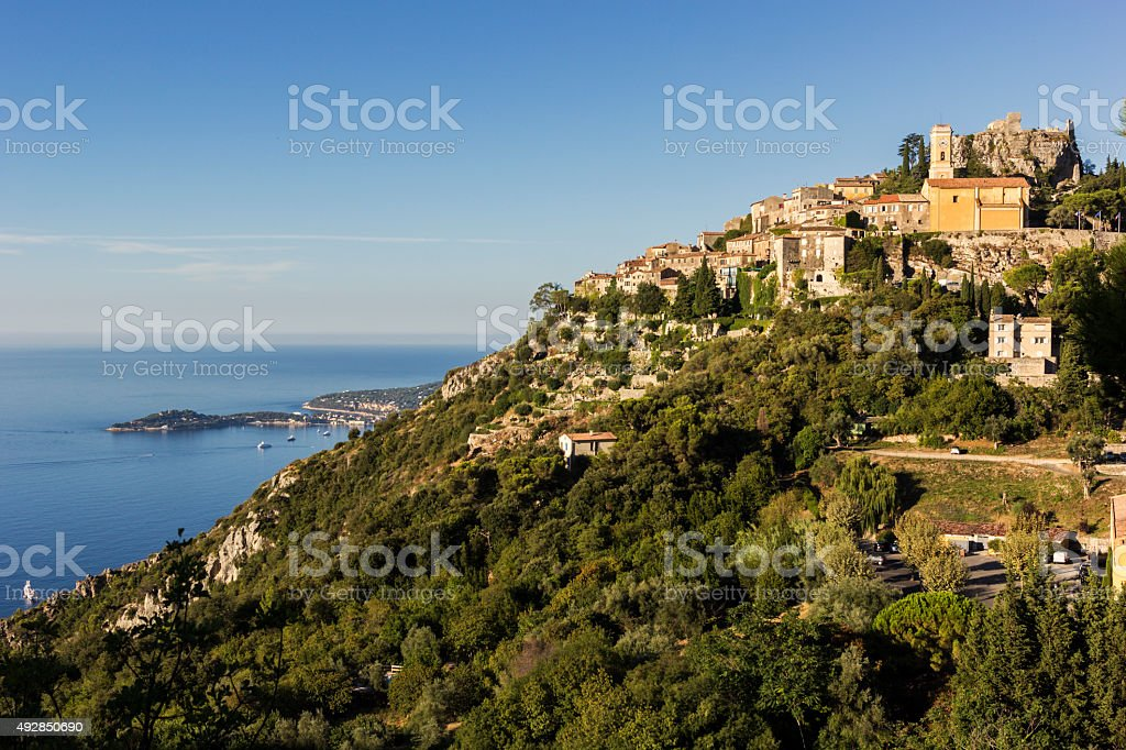 Eze - historic village in France stock photo