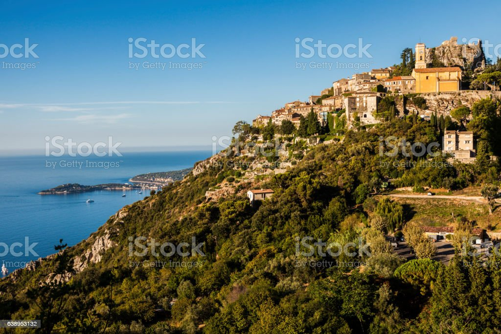 Eze panorama in the morning stock photo