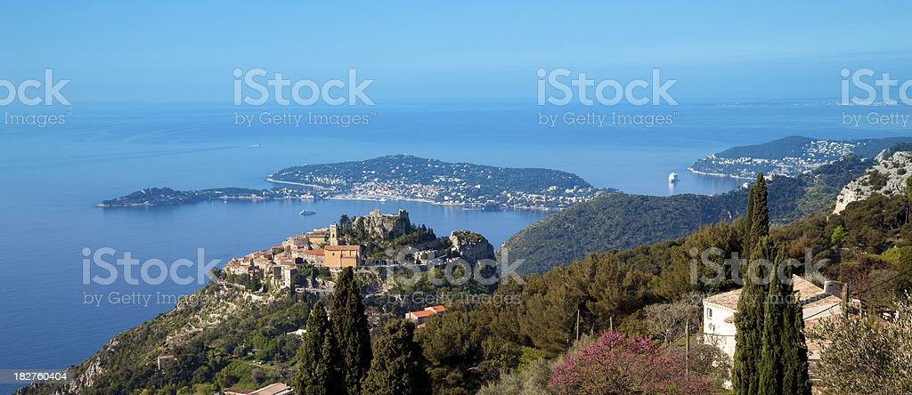 Èze Village et Saint-Jean Cap Ferrat vue panoramique - Photo