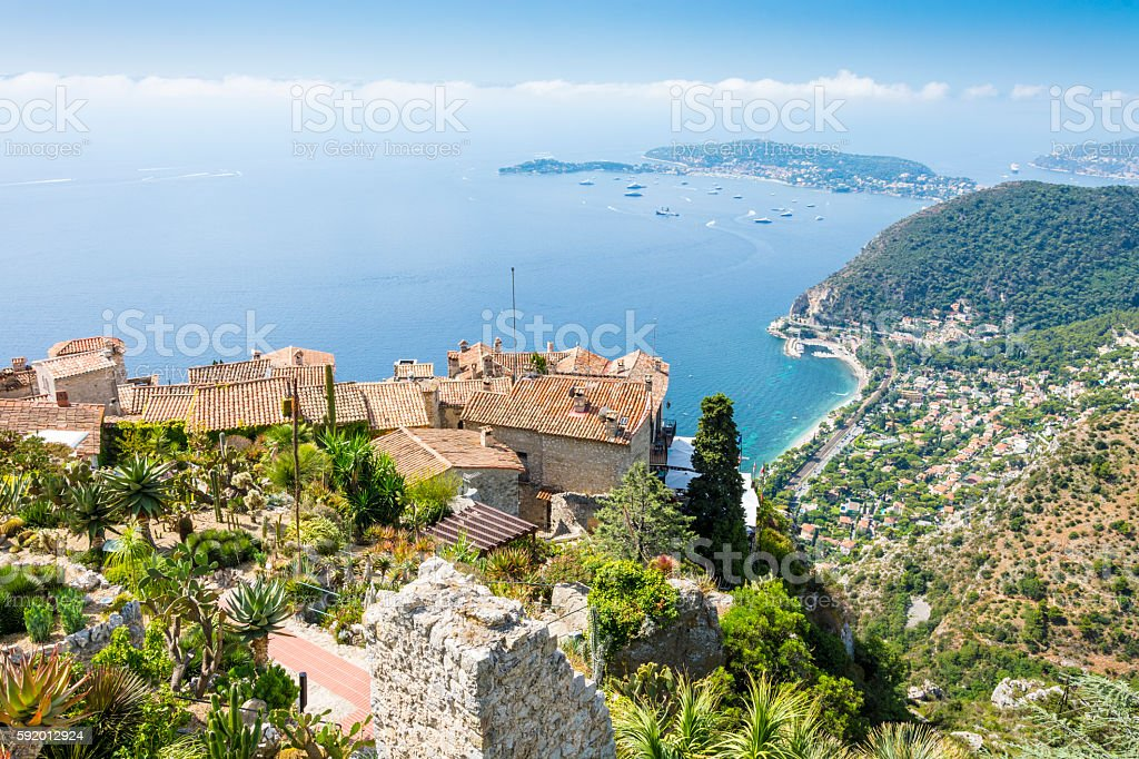 Eze Village from above, France stock photo