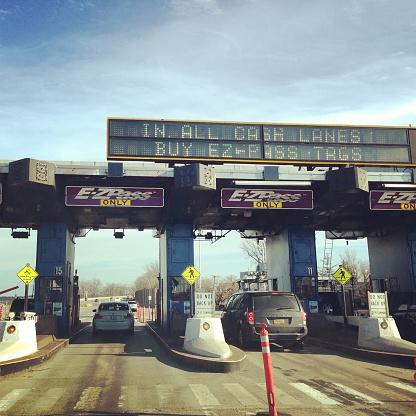 Ezpass On Throgs Neck Bridge In New York Stock Photo - Download Image Now