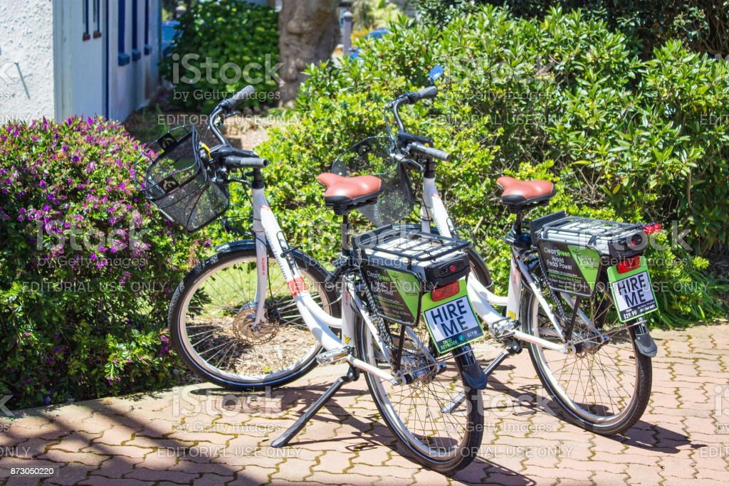 Ezy Rider Hybrid Electric bikes for hire in New Zealand stock photo