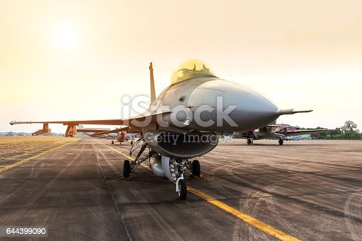 istock f16 falcon fighter jet military aircraft parked in the airforce 644399090