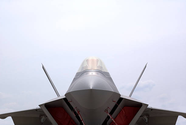 f22 raptor strapped down The F16 replacement. mount combatant stock pictures, royalty-free photos & images