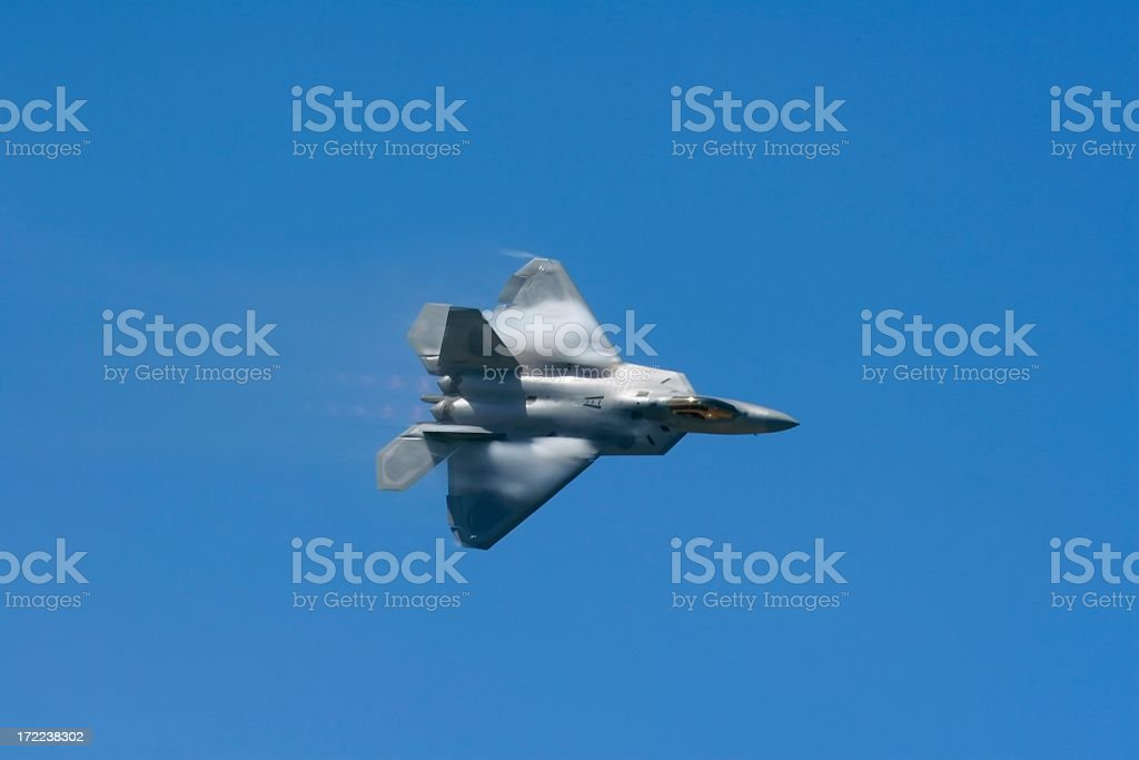 F-22a Raptor fast flyby royalty-free stock photo