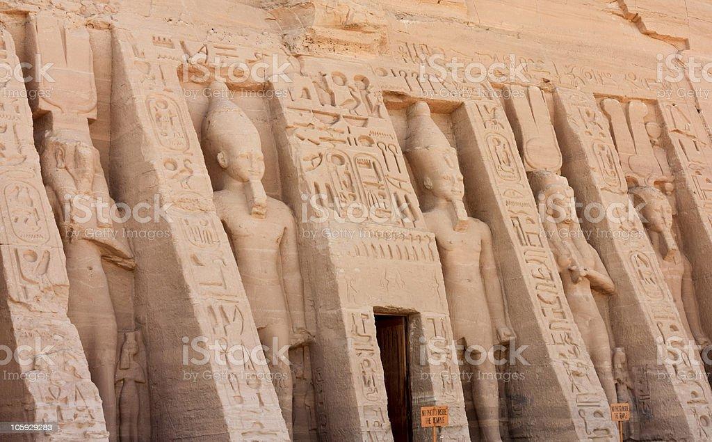 Façade Abu Simbel Nefertari's Temple stock photo