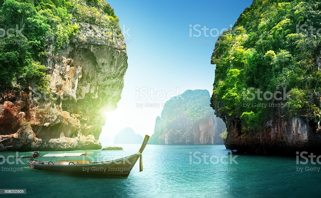 fabled landscape of Thailand stock photo