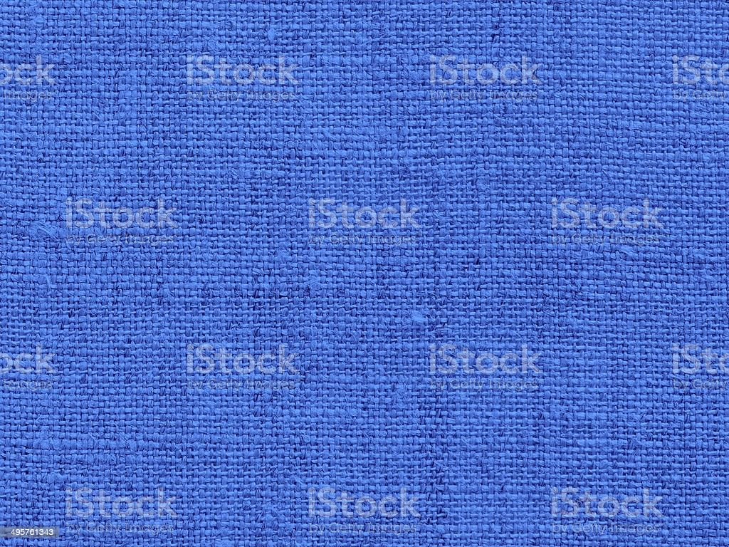 Fabric background in blue stock photo