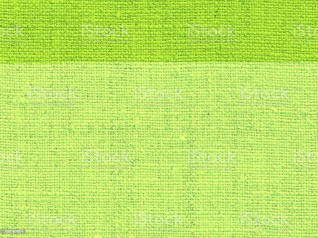Fabric background in green stock photo