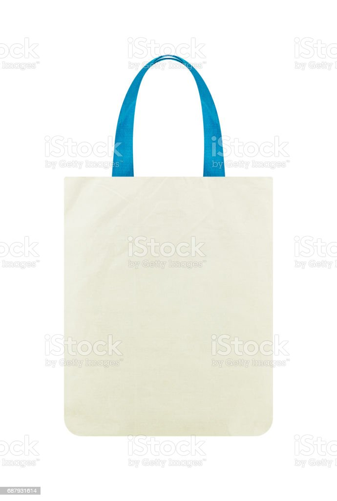 Fabric bag isolated on white background, Clipping path stock photo