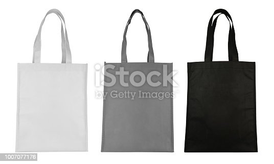 istock Fabric bag isolated on white background 1007077176
