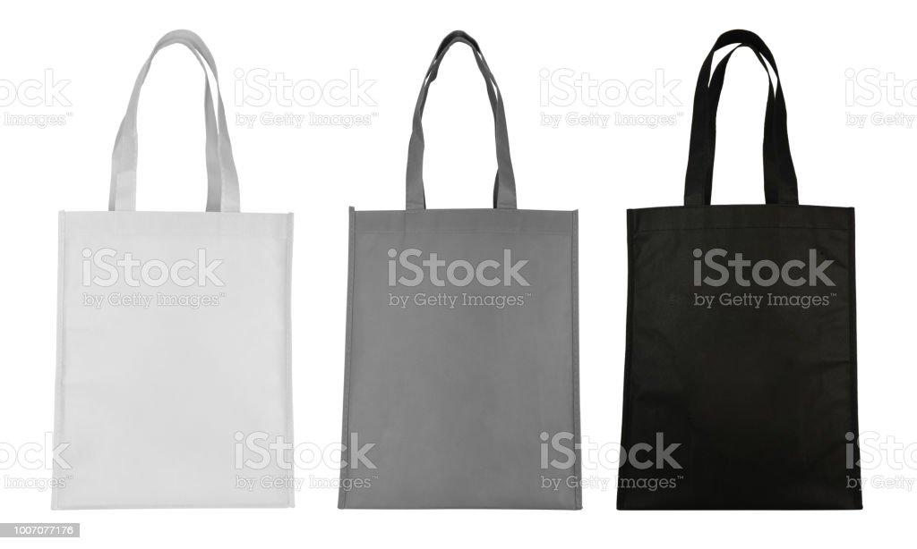 Bolsa de tela aislado sobre fondo blanco - foto de stock